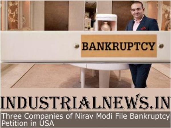 Three Companies of Nirav Modi File Bankruptcy Petition in USA