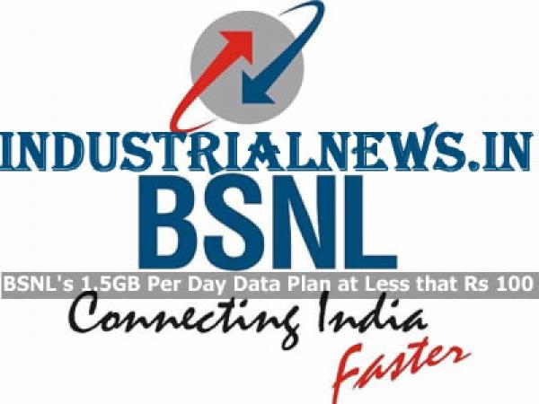 BSNL's 1.5GB Per Day Data Plan at Less that Rs 100