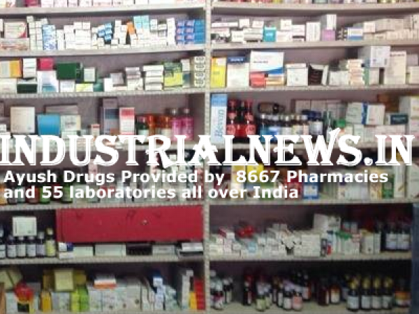 Ayush Drugs Provided by  8667 Pharmacies and 55 Laboratories in the Country
